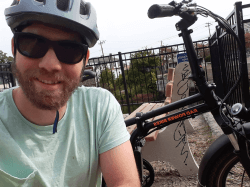 Ben with his electric bike